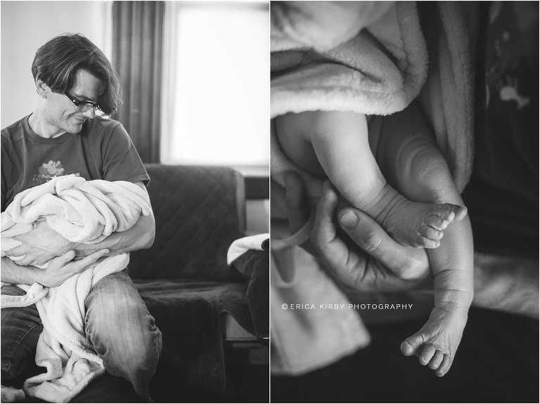 Northwest Arkansas Newborn Home Birth Photographer | Erica Kirby Photography | NWA Bentonville Birth | Twins | Triplets | Baby | Hospital | Bentonville | Rogers | Fayetteville | Springdale