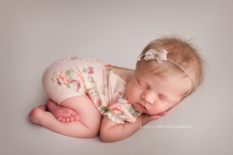 Newborn Photographers Fayetteville AR - Baby girl newborn photography photo session studio styled natural session - erica kirby photography