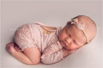 Newborn Photography Bentonville AR   Baby girl newborn session with lots of color, sleeping baby in adorable poses   Erica Kirby Photography