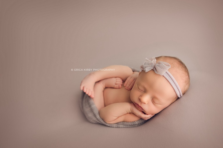 Newborn Baby Photographer Northwest AR - Erica Kirby Photography Studio newborn session in Bentonvlle, Rogers, Fayetteville, Siloam Springs, Fort Smith, Van Buren, River Valley, NWA
