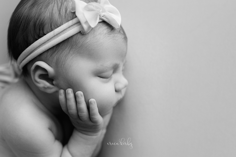 Northwest AR Newborn Studio Photography - baby girl newborn photography session in bentonville arkansas studio - erica kirby photography