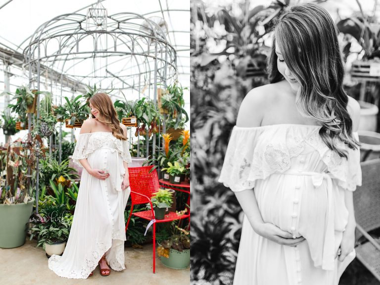 Rogers Arkansas Greenhouse Maternity Session - Erica Kirby Photography Northwest Arkansas