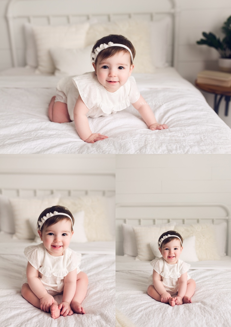 One Year Old Cake Smash Session Bentonville AR - simple first year photo shoot - Erica Kirby Photography NWA